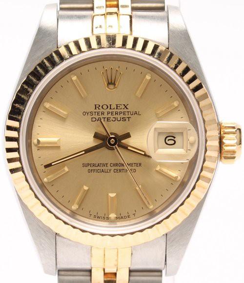 3b9c3edc01 ロレックス 腕時計 オイスターパーペチュアル デイトジャスト 自動巻き ゴールド ROLEX レディース 【中古】