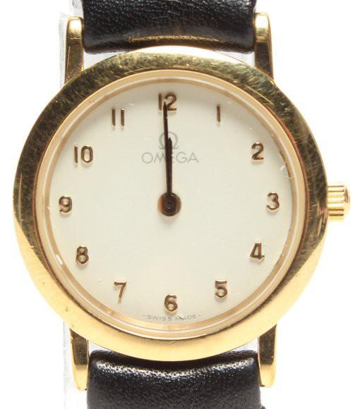 訳あり オメガ 腕時計 デビル クオーツ ホワイト ...