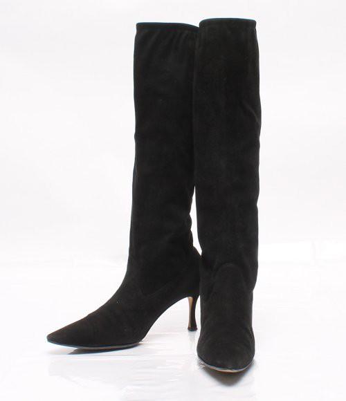 マノロブラニク SIZE 37 1/2 (M) スエード ブーツ...