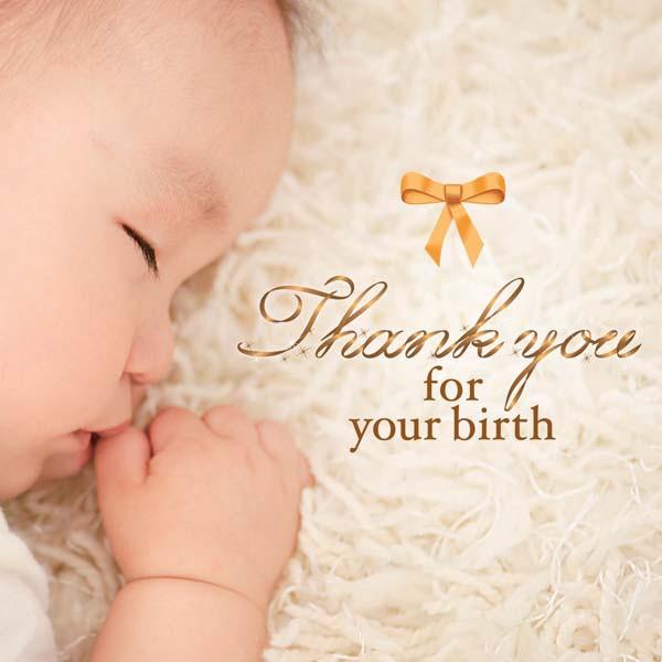 生まれてきてくれて、ありがとう Thank you for ...