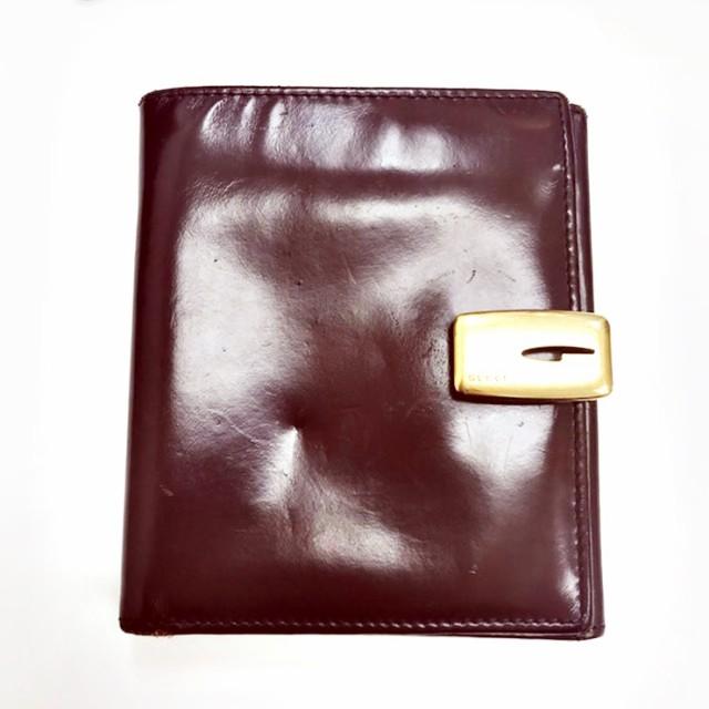 【中古】Bランク GUCCI グッチ 2つ折り財布 035・...