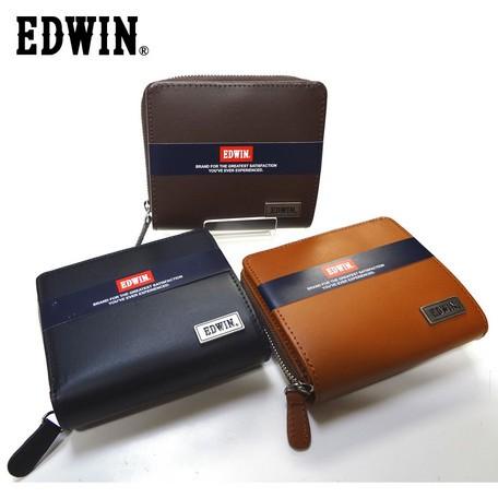 二つ折り財布 メンズ【EDWIN】再生皮革リサイクル...