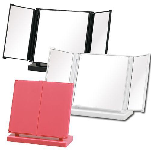 三面鏡 卓上鏡 コスメミラー コンパクト かわいい...