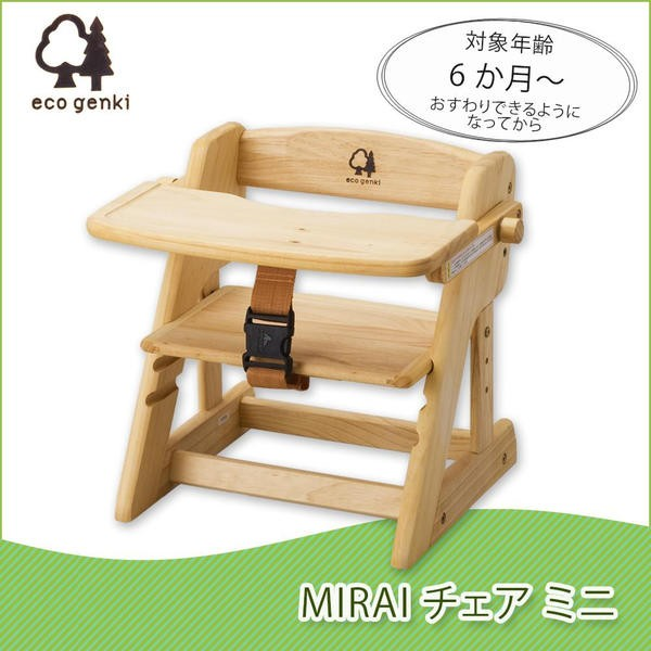 エコ元気 MIRAIチェア ミニ 6か月から FG001PN100...