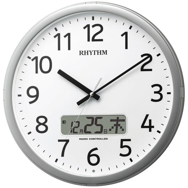 リズム電波掛時計 プログラムカレンダー01SR 4FNA...