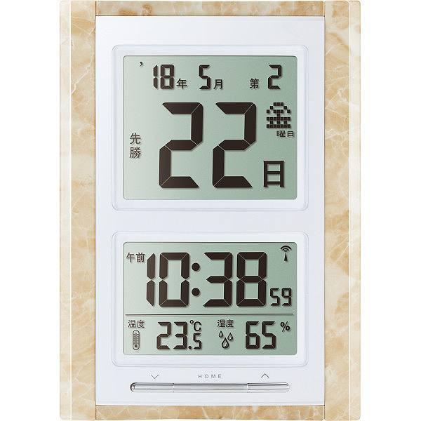 デジタル日めくり電波時計  NA−101MS 【...