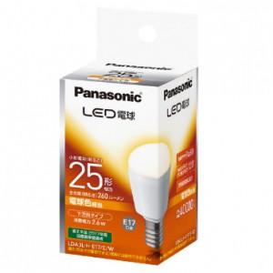 パナソニック LED電球 小形電球形 電球色相当 下...