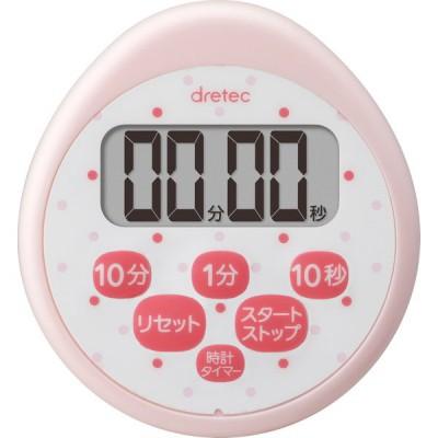 ドリテック 時計付防水タイマー ピンク T-565PK