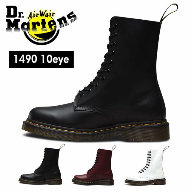 d33fee1e953bfa ドクターマーチン Dr.Martens 1490 10ホール レースアップ シューズ ブーツ メンズ レディース ブラック チェリー