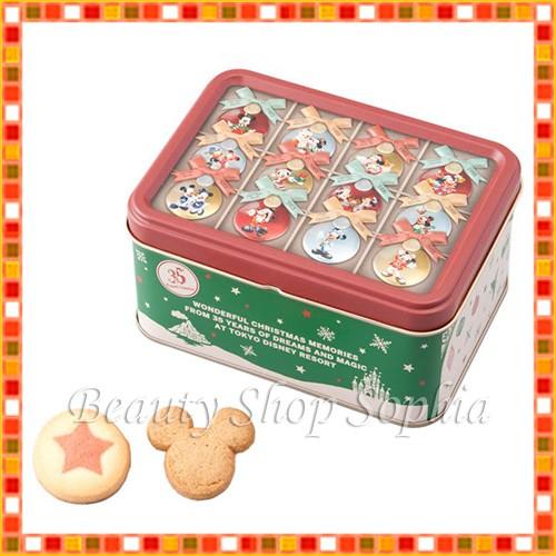 ミッキー&フレンズ 缶入りクッキー 35周年 クリ...