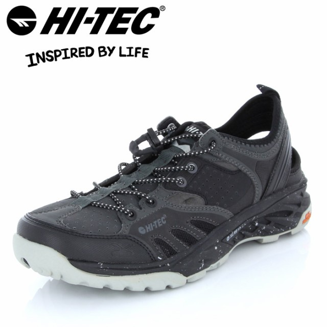 8743f83ac45b HITEC. ハイテック V-LITE ワイルドライフ カイマン サンダル 53142856 靴 メンズ 黒 ブラック HI-TEC