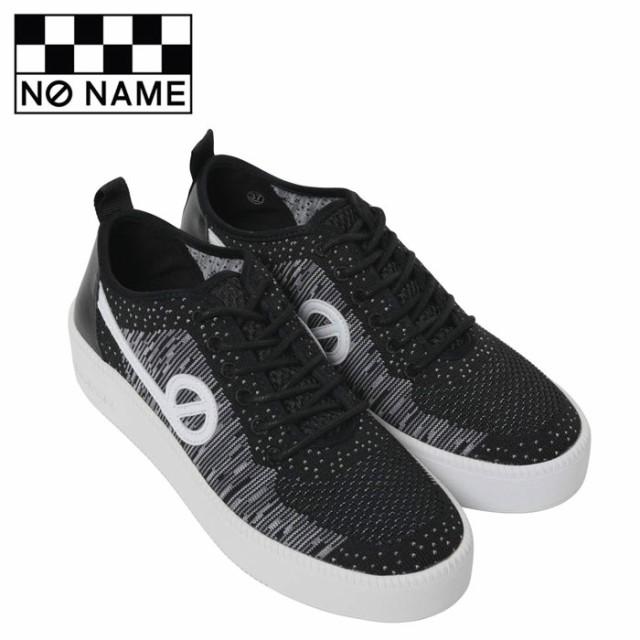 ノーネーム NO NAME スニーカー ジャバ JAVA-71518 レディース 黒 ブラック ニットスニーカー レザー フラットスニーカー シューズ 靴