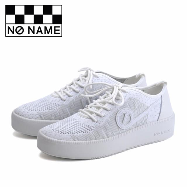 ノーネーム NO NAME スニーカー ジャバ JAVA-71518 レディース 白 ホワイト ニットスニーカー レザー フラットスニーカー シューズ 靴