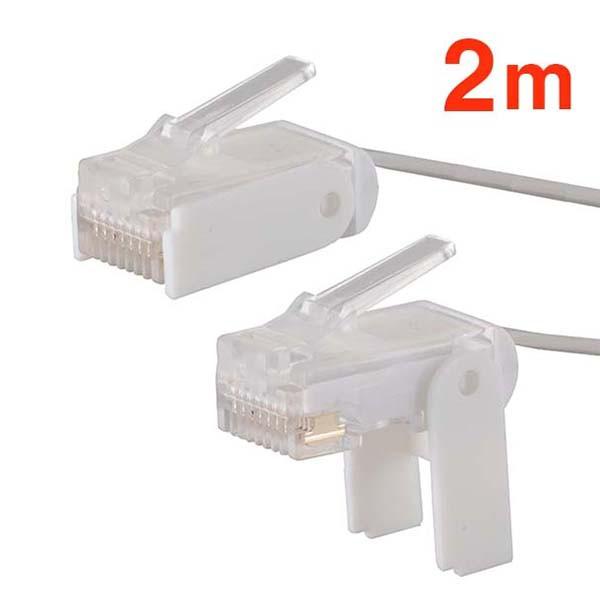 オーム電機 LAN&モジュラー兼用ケーブル 2m PC...