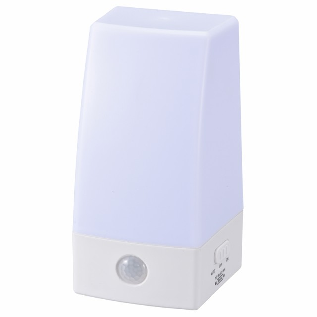 OHM LEDナイトライト 人感センサーライト 乾電池...