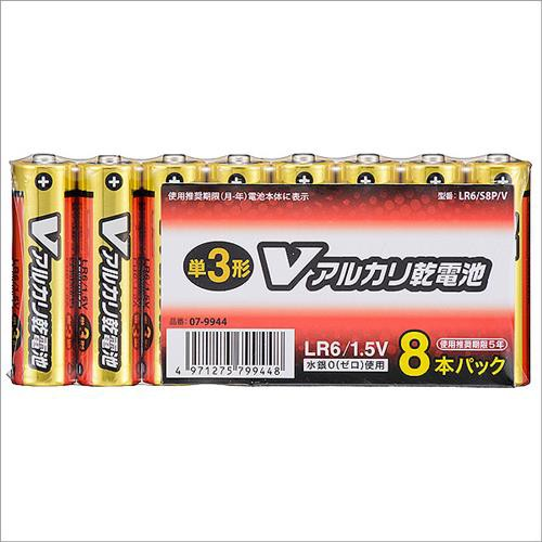 オーム電機 単3形 Vアルカリ乾電池 8本入 LR6/S8P...