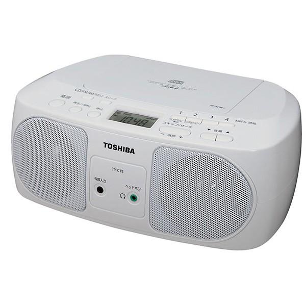 東芝 CDラジオ TY-C15W 17-4141