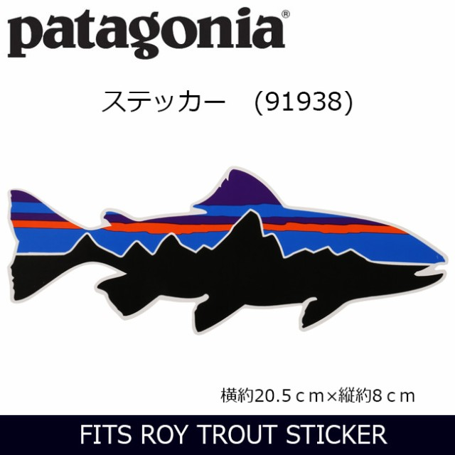 パタゴニア Patagonia  FITS ROY TROUT STICKER ...