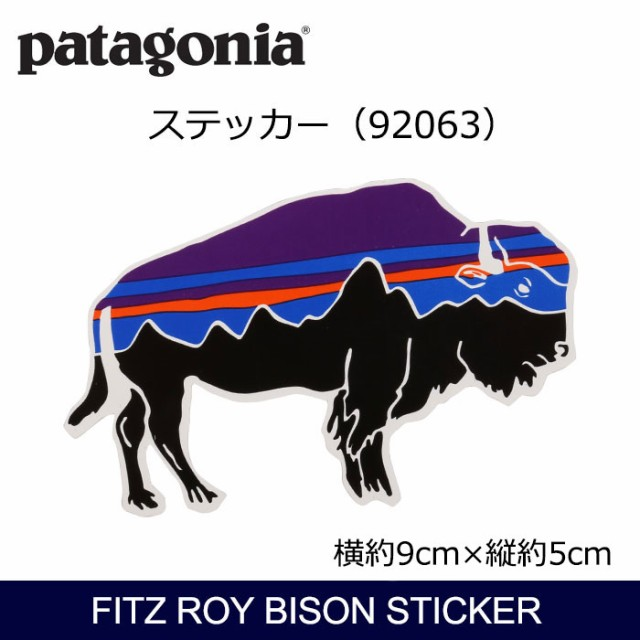 パタゴニア Patagonia Fitz Roy Bison Sticker 92...