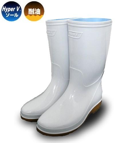 長靴 ハイパーV 4000 衛生長靴 白 日進ゴム