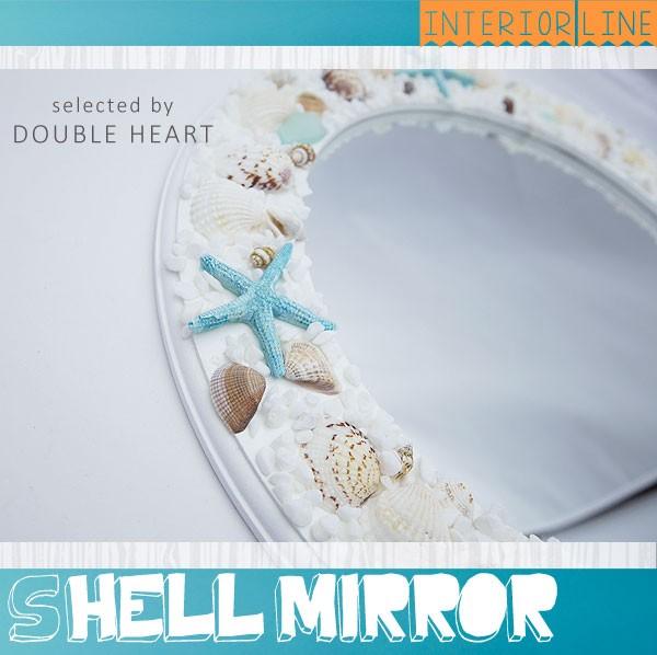 シェルミラー 鏡 壁掛け 丸 丸型 ハワイアン雑貨 ...