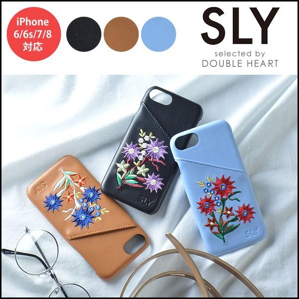 SLY スライ 刺繍背面iPhoneケース iphone8 iphone...