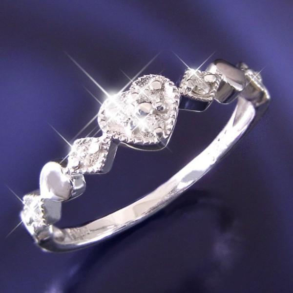 ハートダイヤリング 指輪 セブンストーンリング 1...