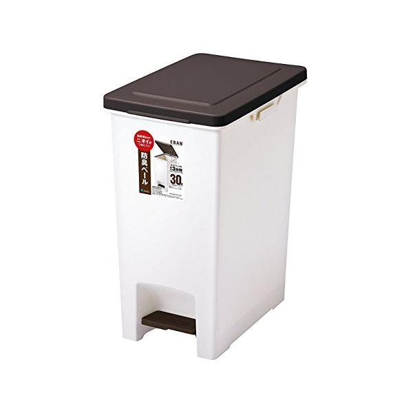 薄型 ペダルペール/フタ付きゴミ箱 【30L】 ブラ...
