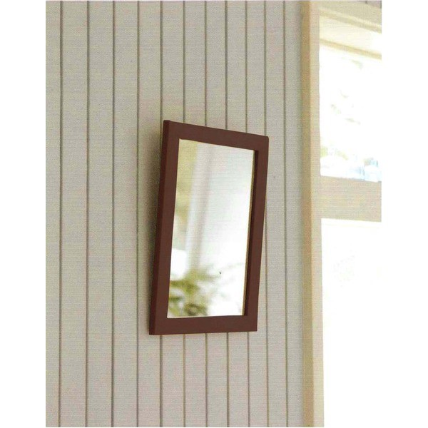 木製スタンド付きミラー 【サイズ 約247×298×28...