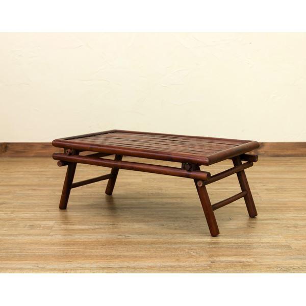 バンブー材折りたたみテーブル/ミニテーブル 【長...