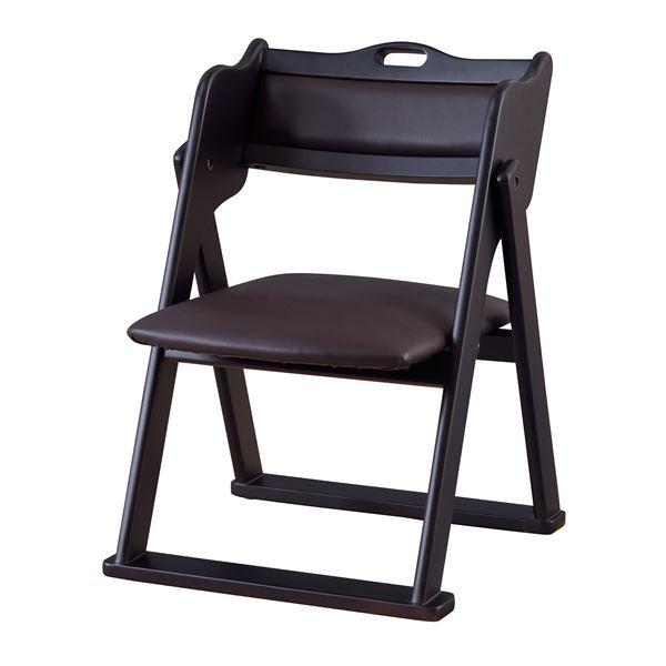 お座敷チェア/折りたたみ椅子 【ブラック】 幅50c...