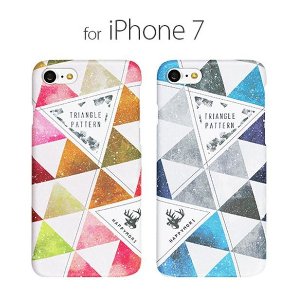 Happymori iPhone 8 / 7 Triangle Pattern ブルー...