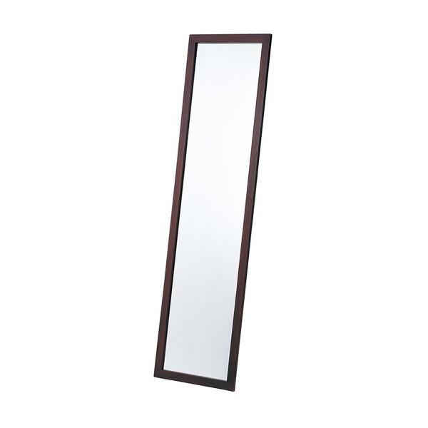ウォールミラー/全身姿見鏡 【壁掛け用】 ブラウ...