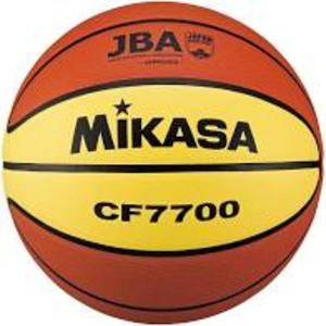 バスケットボール7号 検定球 天然皮革 茶/黄【代...