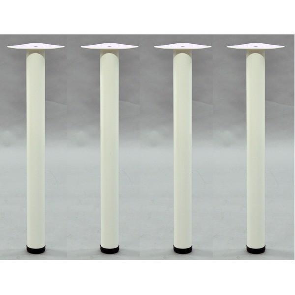 DIY用 テーブル脚【4本セット】 ホワイト色 スチ...