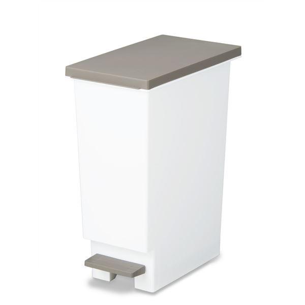 ペダル式 ゴミ箱/ダストボックス 【20L ブラウン...