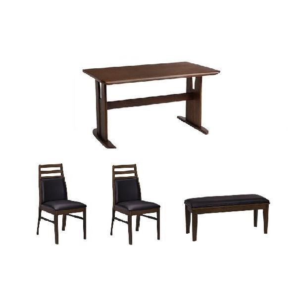 【4点セット】ダイニングテーブル1台&肘なしチェ...
