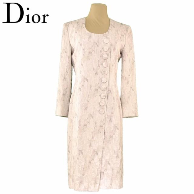 ディオール Dior ワンピース アシメボタン ワンピ...