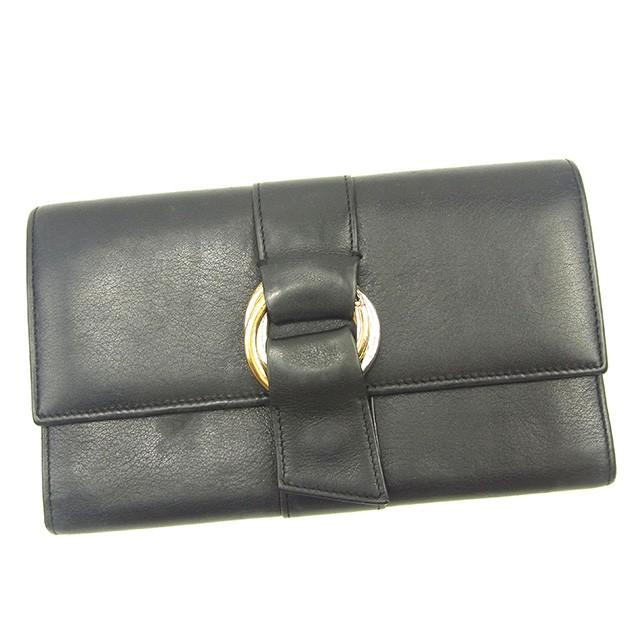 d112fe256928 カルティエ Cartier 長財布 財布 小物 サイフ 三つ折り財布 メンズ可 トリニティ 【中古】