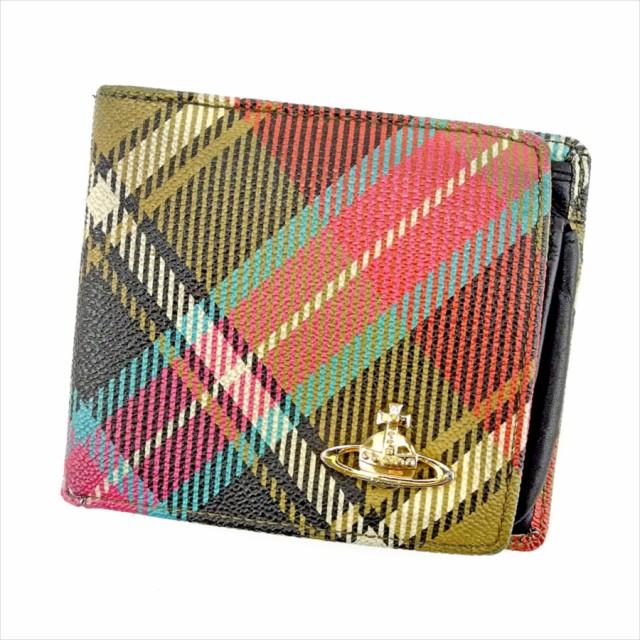 099bd57ff470 ヴィヴィアン ウエストウッド Vivienne Westwood 二つ折り 財布 小物 財布 サイフ レディース メンズ 可 チェック オーブ