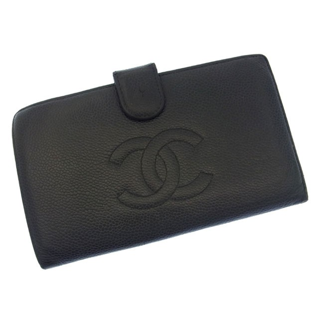 1ede72550e22 シャネル CHANEL 長財布 財布 小物 サイフ がま口二つ折り レディース ココマーク 【中古】