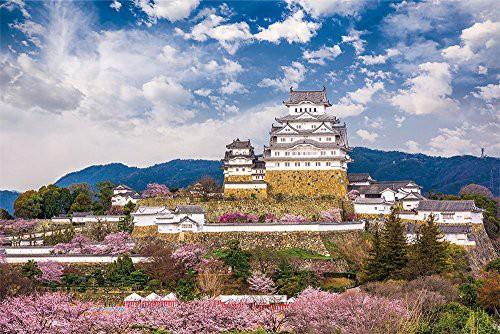1000ピース ジグソーパズル 桜咲く姫路城(兵庫)(5...