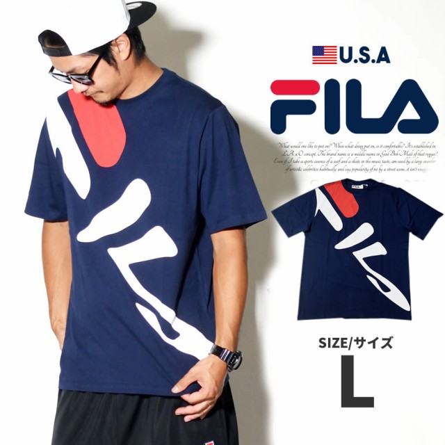 FILA Tシャツ メンズ 半袖 ロゴ ストリート系 ヒ...
