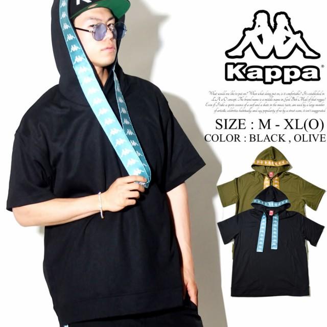 Kappa カッパ フード付き 半袖Tシャツ パーカー ...