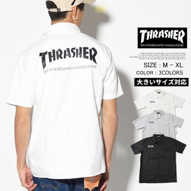 THRASHER スラッシャー ワークシャツ 半袖シャツ ...