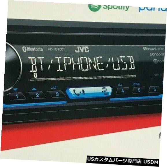 JVC KD-TD70BT 1-DIN Bluetooth In-Dash CD / AM ...