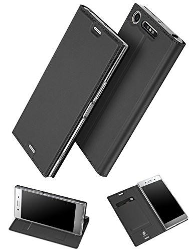 Xperia XZ1 手帳型 ケース、uovon 軽量 Sony エク...