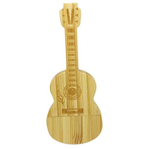 Liang おもしろ USBメモリ 32GB 64GB ギター型 竹...
