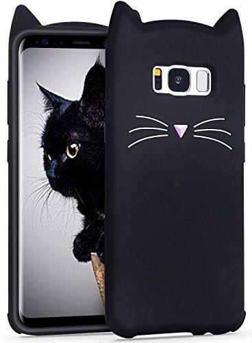 Galaxy s8 ケース Imikoko ギャラクシーs8 カバー 8 カバー おしゃれ かわいい ねこ 猫耳 シリコン ディズニー