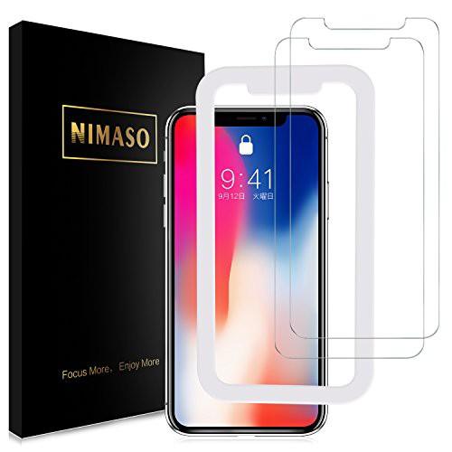 (2枚セット)Nimaso iPhoneX 用 強化ガラス液晶...